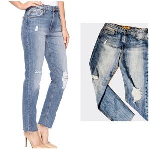 Nwt Joe's High Rise straight ankle ripped jeans